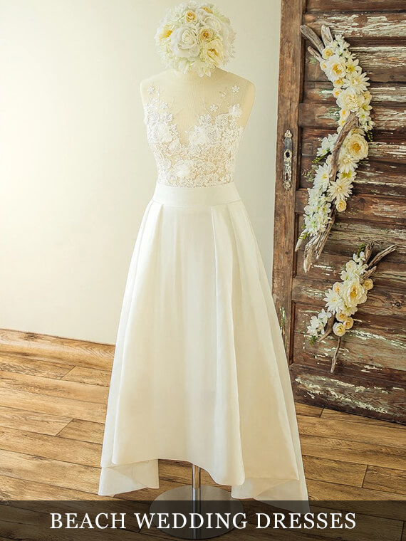 Simple Beach Wedding Dresses Collection