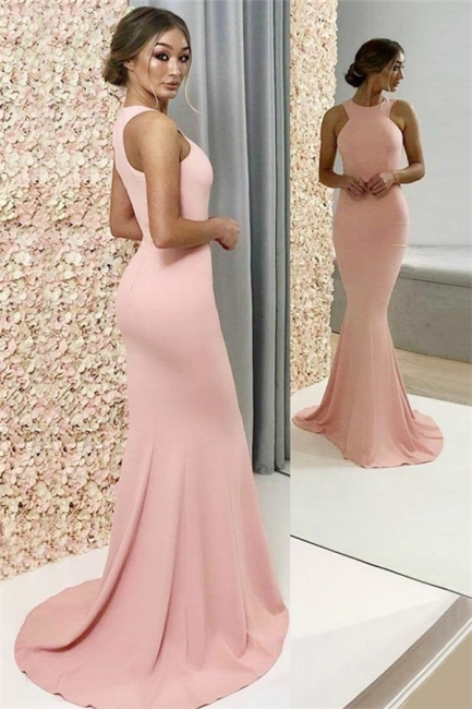 Chic Halter Sleeveless Prom Dresses Cheap Popular Mermaid Sexy Evening Dresses