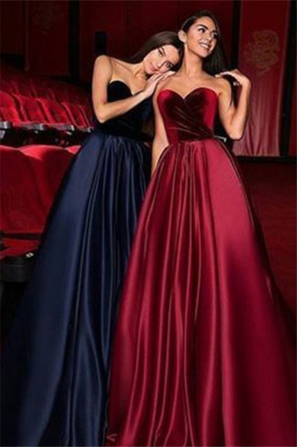 Chic Sweetheart Ruffles Prom Dresses Popular Sleeveless Sexy Evening Dresses Cheap