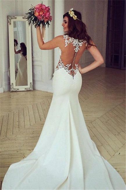 Sexy Cutaway Sides Bridal Gowns | Sheer Mermaid Wedding Dresses