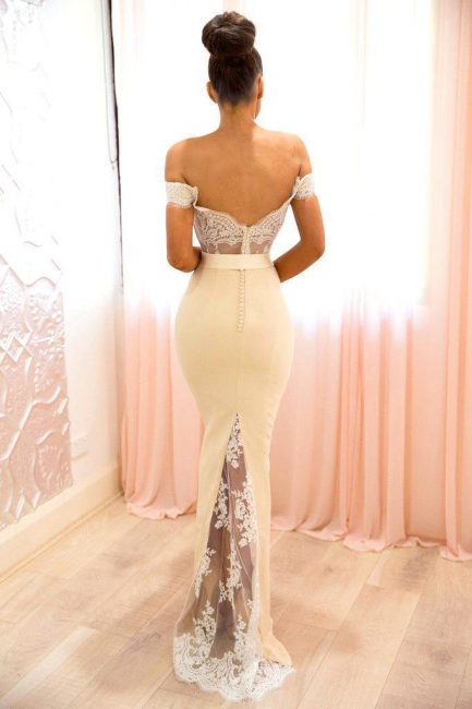 Elegant Off-the-shoulder Bridesmaid Dresses | Lace Mermaid Evening Dresses