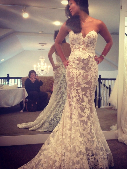 Lace Elegant Sweetheart White A-line Wedding Dresses