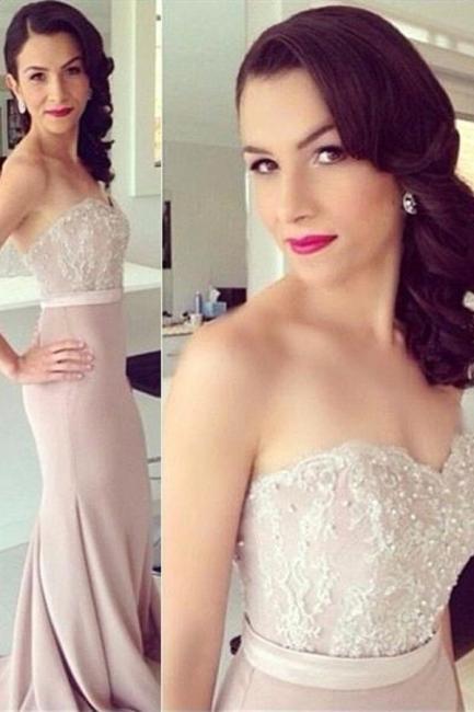Beads Lace Mermaid Elegant Sweetheart Prom Dress