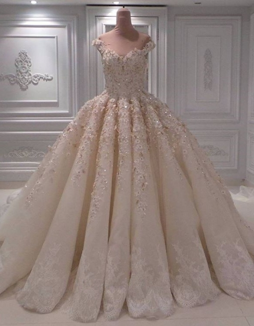 Ball Gown Lace Wedding Dresses | Off the Shoulder Bridal Gowns