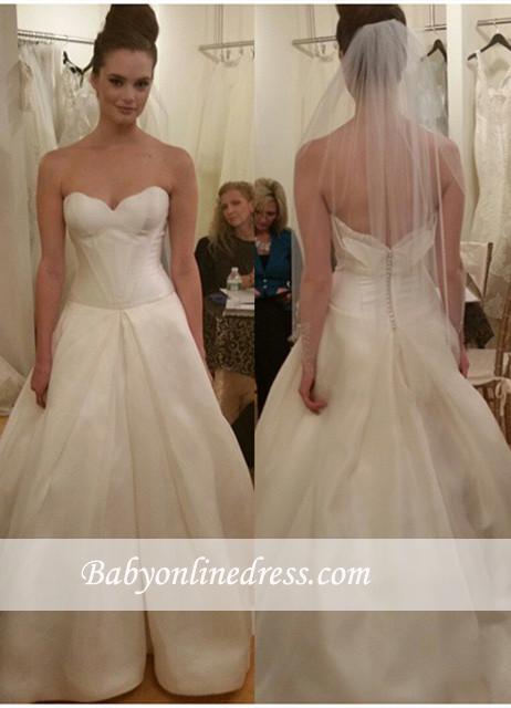 Gorgeous Sleeveless Princess Bridal Gowns Zipper Sweetheart Wedding Dresses