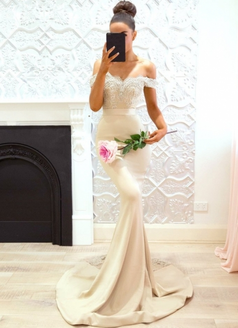 Off-the-Shoulder Bridesmaid Dresses | Elegant Lace Maid of the Honor Dresses