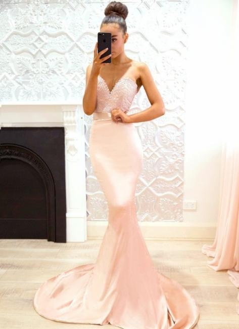 Pink Sweetheart Neck Bridesmaid Dresses   Sleeveless Long Maid of the Honor Dress
