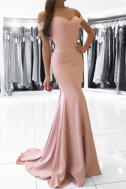 2018 Mermaid Prom Dresses Sexy Off the Shoulder Long Formal Party Dress RB0001