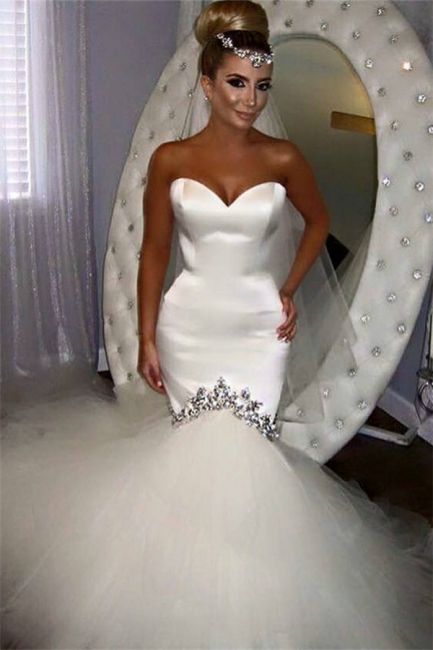 Strapless Sweetheart Mermaid Wedding Dresses | Modern Bridal Gowns