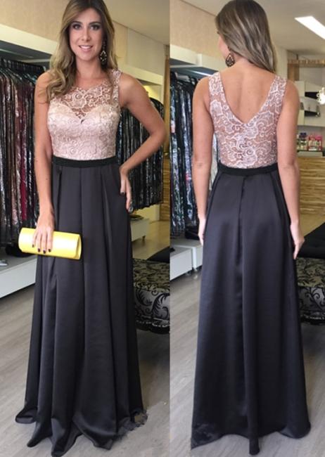 Zipper Floor-Length Sleeveless Lace Gorgeous A-Line Prom Dresses
