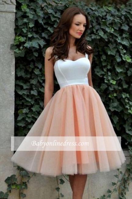 2018 Pretty Straps Sleeveless Tulle Knee-Length Evening Dress