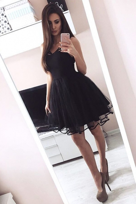 Sext Lace A-Line Homecoming Dresses   Off-The-Shoulder Long Sleeves Short Cocktail Dresses