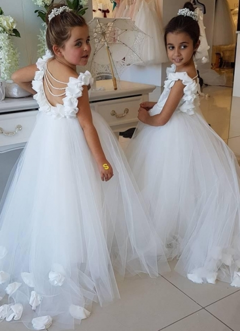 Exquisite Tulle Ball Gown Flower Girl Dresses | Scoop Juliet Flowers Girls Pageant Dresses