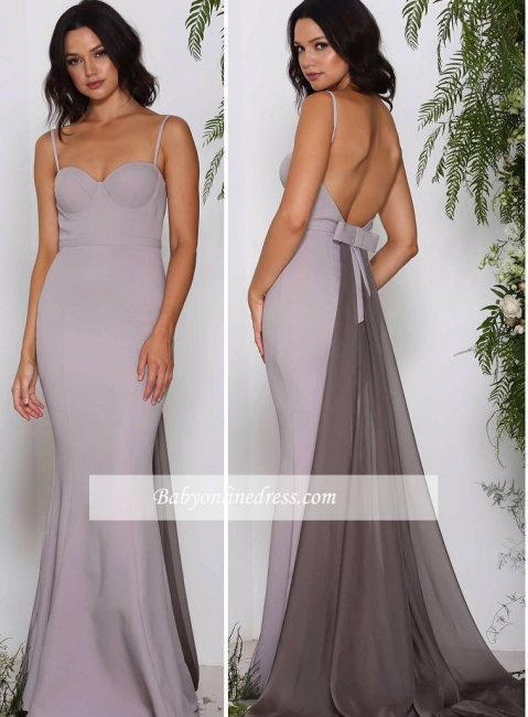 Sweetheart Cheap Long Chiffon Sleeveless Evening Dresses