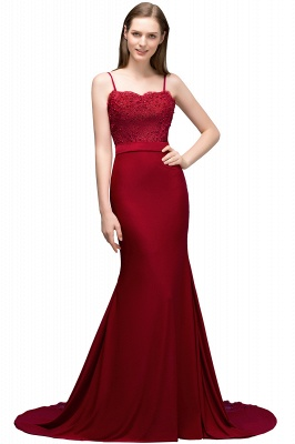 Spaghetti Strap Mermaid Prom Dresses | Sleeveless Evening Gown_1