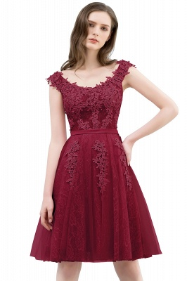 Pink A-Line Homecoming Dresses | Lace Tulle Mini Prom Dresses_2