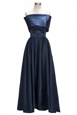 Off the Shoulder Bridesmaid Dresses Hi-Lo Blue Simple Prom Dresses_1
