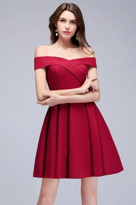 MAMIE | A-line Off-the-shoulder Short Burgundy Homecoming Dresses_6