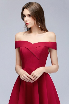 MAMIE | A-line Off-the-shoulder Short Burgundy Homecoming Dresses_8