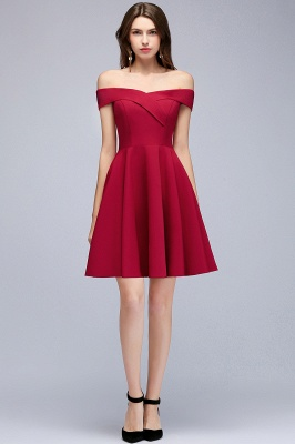 MAMIE | A-line Off-the-shoulder Short Burgundy Homecoming Dresses_5