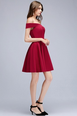 MAMIE | A-line Off-the-shoulder Short Burgundy Homecoming Dresses_11