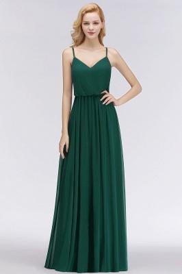 NICOLA | A-line Floor Length V-neck Spaghetti Chiffon Bridesmaid Dresses_8