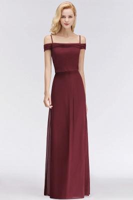 NICOLETTE | A-line Floor Length Off-the-shoulder Burgundy Bridesmaid Dresses_6