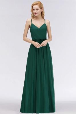 NICOLA | A-line Floor Length V-neck Spaghetti Chiffon Bridesmaid Dresses_4