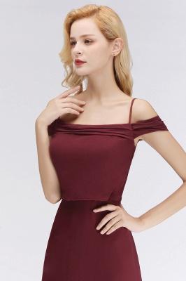 NICOLETTE | A-line Floor Length Off-the-shoulder Burgundy Bridesmaid Dresses_9