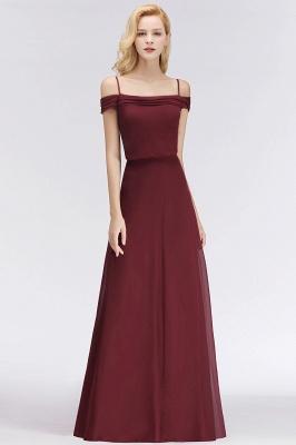 NICOLETTE | A-line Floor Length Off-the-shoulder Burgundy Bridesmaid Dresses_4