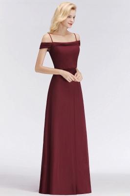NICOLETTE | A-line Floor Length Off-the-shoulder Burgundy Bridesmaid Dresses_1