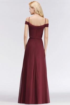 NICOLETTE | A-line Floor Length Off-the-shoulder Burgundy Bridesmaid Dresses_3