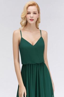 NICOLA | A-line Floor Length V-neck Spaghetti Chiffon Bridesmaid Dresses_6