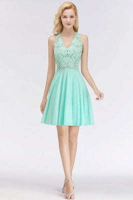 NONA | A-line V-neck Sleeveless Short Appliques Chiffon Homecoming Dresses_9