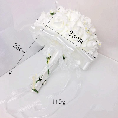 White Rose Wedding Bouquet with Small Flowers_6