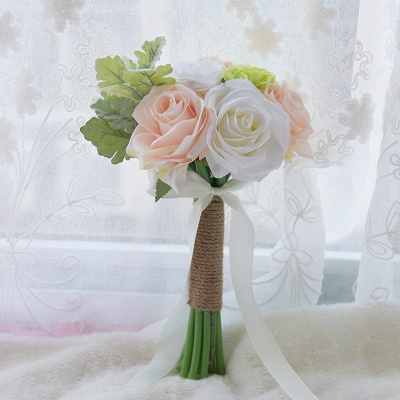 Real Touch Artificial Peony and Rose Wedding Bouquet_5