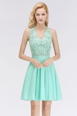 NONA | A-line V-neck Sleeveless Short Appliques Chiffon Homecoming Dresses_7