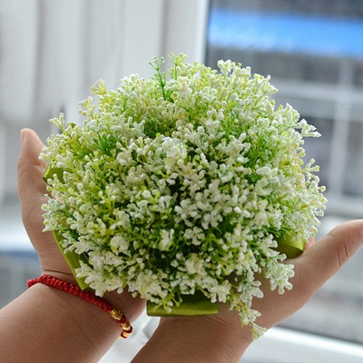 Green Babysbreath Real Touch Wedding Bouquet_3