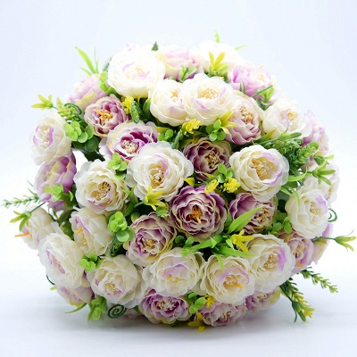 Artificial Rose Wedding Bouquet in Two Colors_6