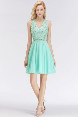 NONA | A-line V-neck Sleeveless Short Appliques Chiffon Homecoming Dresses_4