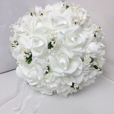 White Rose Wedding Bouquet with Small Flowers