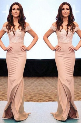 Lace Off-the-Shoulder Prom Dresses Cheap Mermaid Sexy Evening Dresses_1