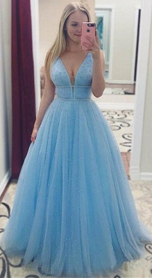 Chic Sequins Straps Prom Dresses Sleeveless Sexy Evening Dresses with Beads