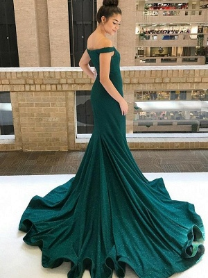 Chic One-shoulder Applique Prom Dresses Long Sleeves Side Slit Sexy Evening Dresses with Belt_3