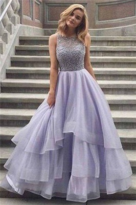 Gorgeous Crystal Sheer Prom Dresses Simple Cheap Sleeveless Sexy Evening Dresses