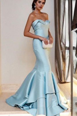 Sequin Ruffle Sweetheart Prom Dresses Cheap Mermaid Sleeveless Sexy Evening Dresses_1