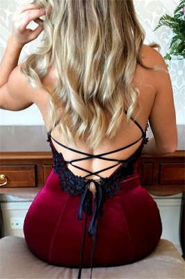 Lace Up Halter Applique Sleeveless Prom Dresses Mermaid Cheap Popular Sexy Evening Dresses_2