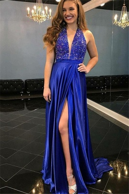 Chic Sequins Off-the-Shoulder Prom Dresses Ruffles Sleeveless Mermaid Sexy Evening Dresses_1