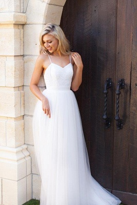 Gorgeous Simple Spaghetti-Strap Prom Dresses Sheer Cheap Backless Sleeveless Sexy Evening Dresses_3