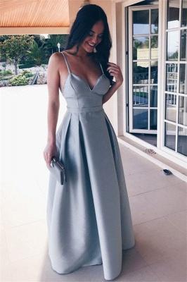Chic Ruffle Backless Prom Dresses Spaghetti-Strap  Sleeveless Sexy Evening Dresses_1